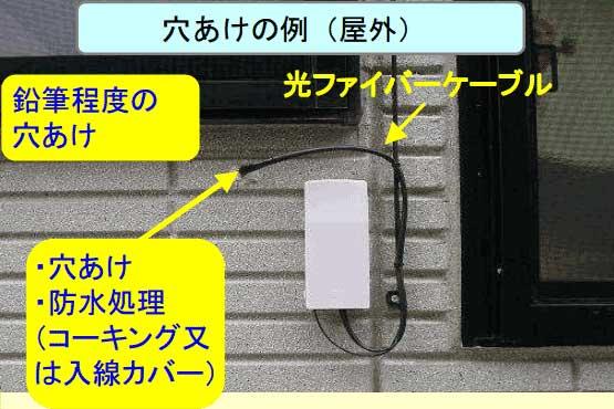 光回線導入工事_壁に穴を空ける